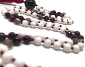 Garnet Mala, Smoky Quartz Mala, Root Chakra Mala, Tridacna Shell Mala, Red Mala, Muladhara Mala, White Mala, Prayer Beads