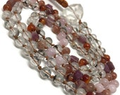 Pink Tourmaline Mala / Phantom Quartz Mala / Carnelian Mala / Sunstone Mala / Rose Quartz Mala / Quartz Crystal / Love / Prayer Beads / Japa
