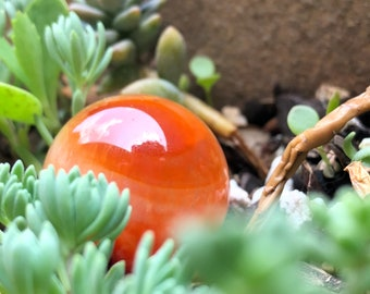 Small Orange Carnelian Sphere for Joy and Creativity | Mini Crystal Ball | Orange Crystals for Sacral Chakra | Metaphysical Crystals | Gem