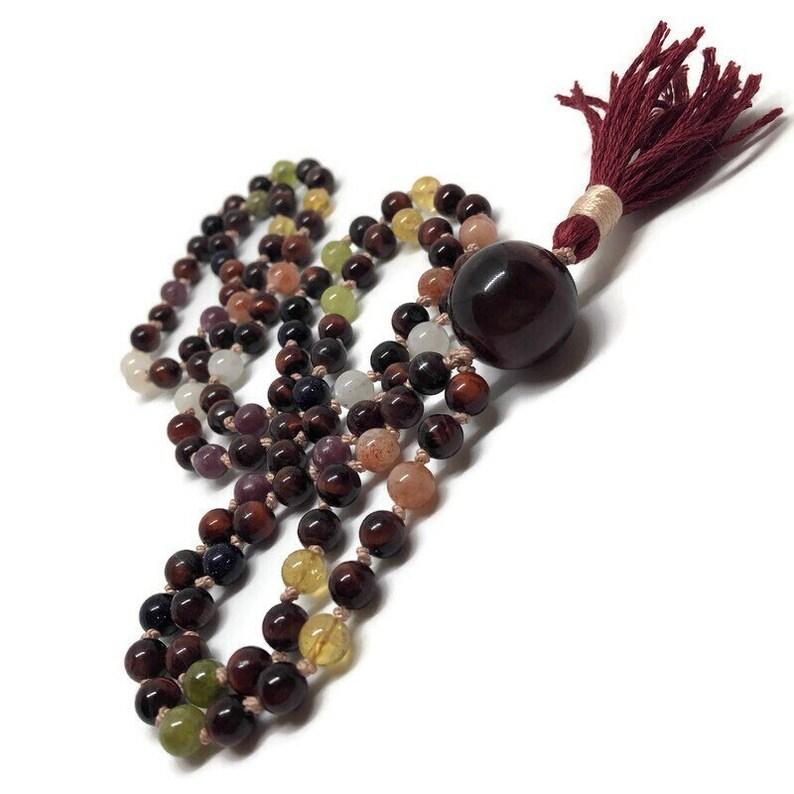 Chakra Mala Beads / Prayer Beads / Meditation / Yoga Necklace image 0