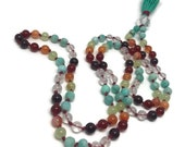 One of a Kind, Genuine Gemstone and Crystals, 108 Mala Beads for Yoga and Meditation, Japa, Prayer Beads