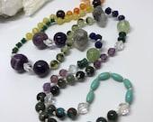 Rainbow Beaded Necklace, Chakra Mala, Rainbow Mala, Boho Necklace, Yoga Mala, Meditation Beads, Yoga Teacher Training, Valentine's Day
