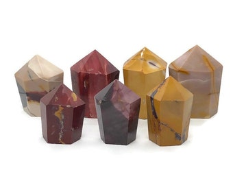 Mookaite Jasper Cupcake Towers | Mookaite Cup Cake Towers | Mookaite Crystal Tower | Jasper Tower | Cupcake Crystals for Crystal Gridding