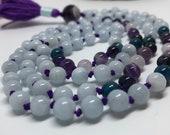 Aquamarine Mala Necklace | Apatite Mala Necklace | Amethyst Mala Necklace | Iolite Mala Necklace | Prayer Beads | Yoga Necklace | Yoga Mala