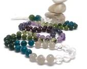 Amethyst Mala Beads Necklace for Yoga and Meditation | Chakra Healing Prayer Beads | Boho Style Tassel Necklace