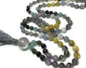 108 Bead Gemstone Mala Necklace for Prayer and Meditation | Yoga Jewelry | Spiritual Jewelry | Prayer Beads | Gift for Yoga Teacher