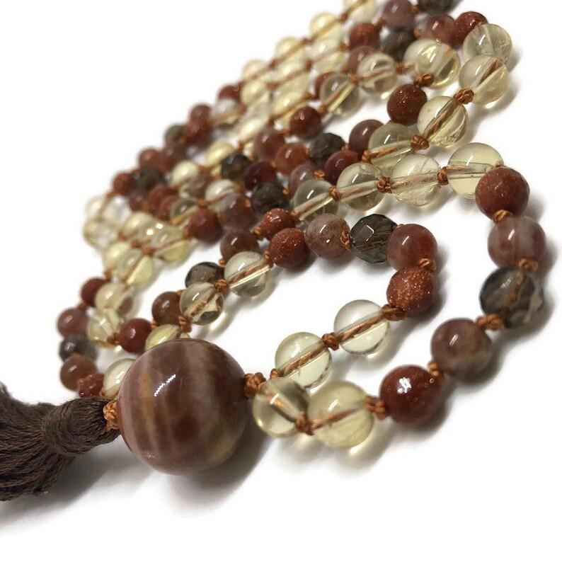 Citrine Mala Beads / Sunstone Mala / Moonstone Mala Necklace / image 0