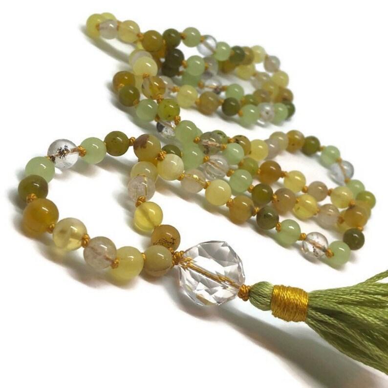 Gold Mala / Green Mala / Onyx Mala / Opal / Jade / Quartz / image 0