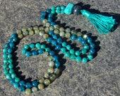 Amazonite Mala, Apatite Mala, Labradorite Mala, Mala Beads, Yoga Jewelry, Prayer Beads, Green Mala, Teal Mala, Aqua Mala, Blue Mala, Yoga