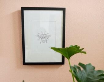 Line Drawing Bee Print