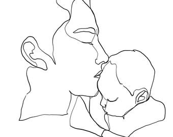 Custom One Line Drawing (1-2 people/subjects)