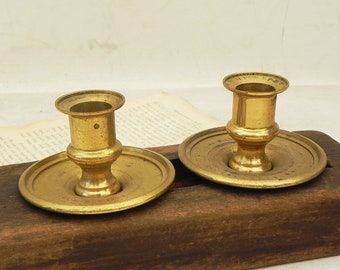 Chandelier parts etsy 2 sets of brass bobeches candelabra socket cups vintage lamp chandelier parts repurpose assemblage craft supply aloadofball Choice Image
