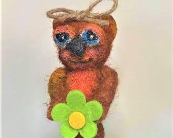 Betty Bear - an original Needle Felted Art Doll