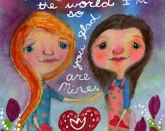 Best Mom Original 8x10 Painting