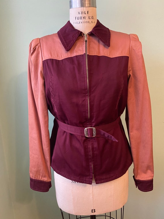 1930s 30s vintage two tone jacket