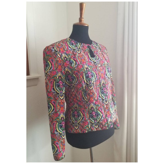 Bright Quilted Vintage Jacket - image 4