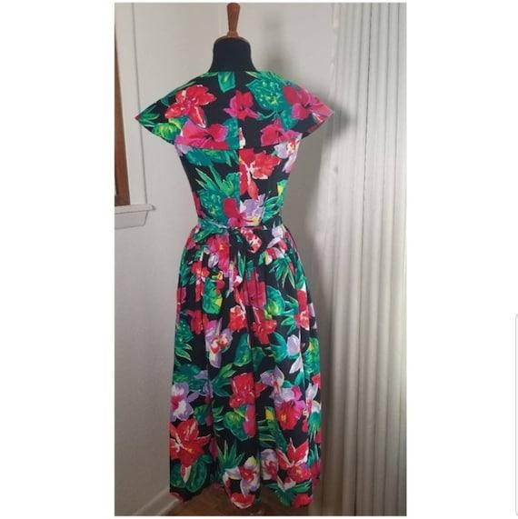 1980's Garden Party Floral Dress - image 5