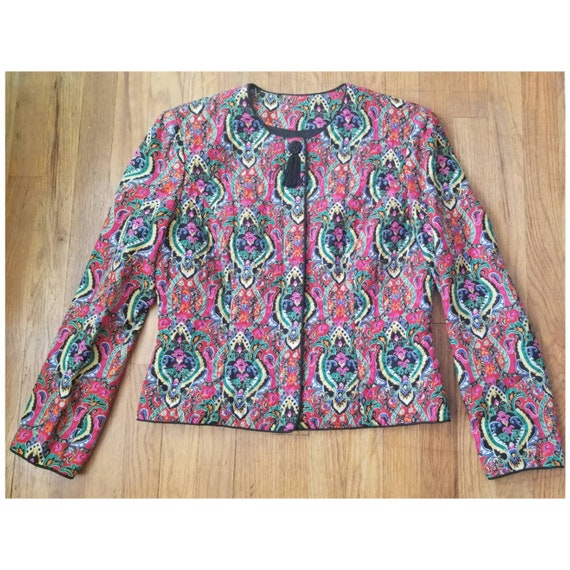 Bright Quilted Vintage Jacket