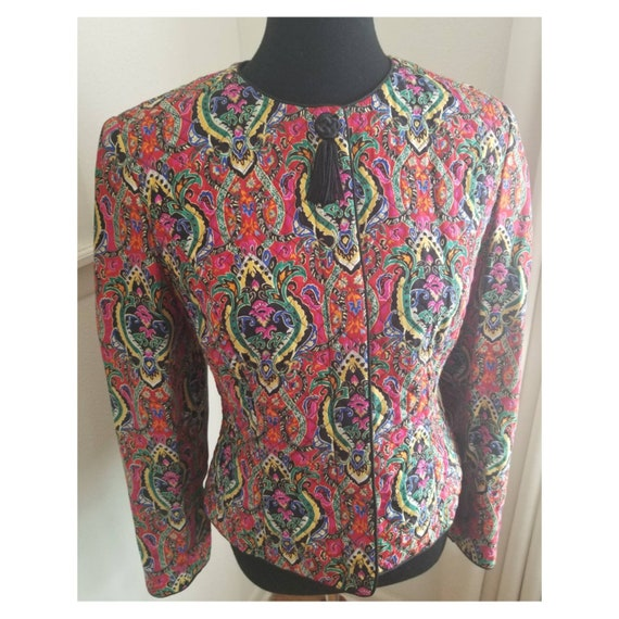 Bright Quilted Vintage Jacket - image 3