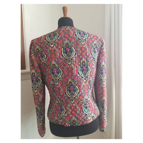 Bright Quilted Vintage Jacket - image 5