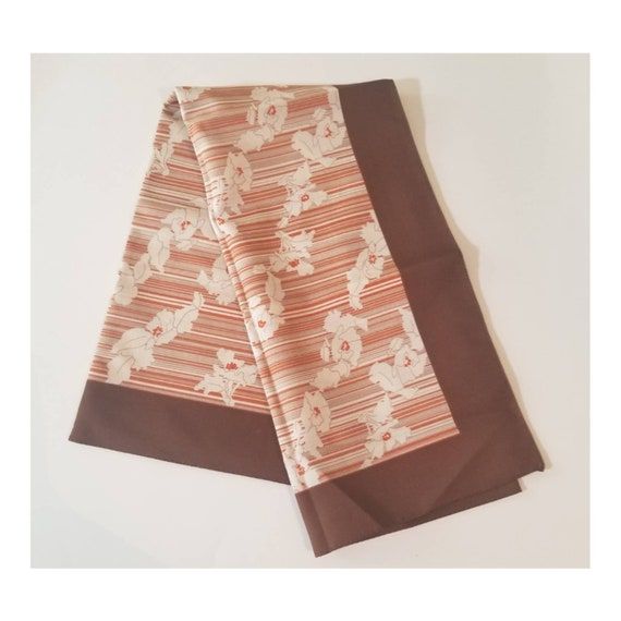 Vintage Minimalist Stripes and Flowers Bandana