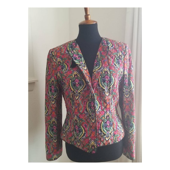 Bright Quilted Vintage Jacket - image 7