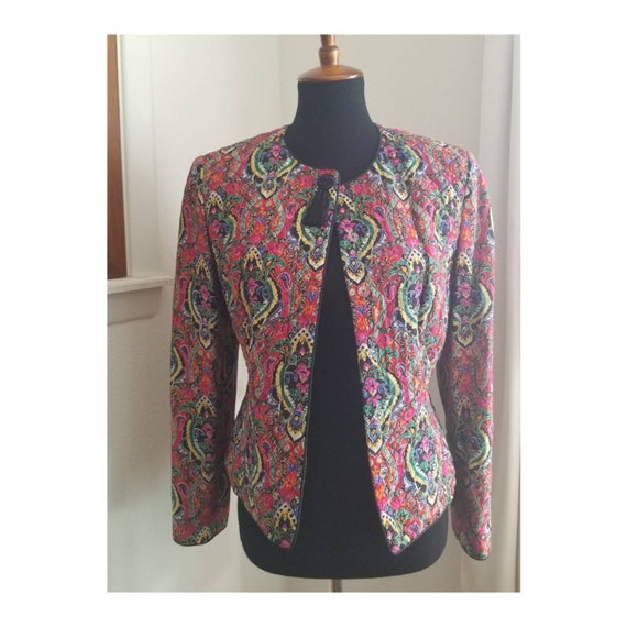 Bright Quilted Vintage Jacket - image 6