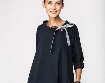 Classic dress | French dress | Deep Blue dress | LeMuse classic dress