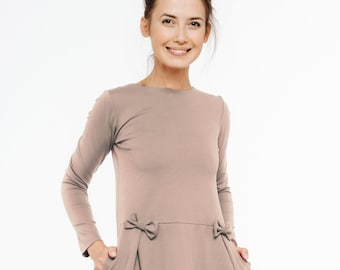 Japanese dress | Modest dress | Neutral dress | LeMuse japanese dress