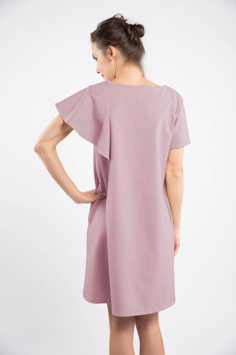 Extravagant Dress Avant Garde Dress Formal Dress Short Dress Cocktail Dress Summer Dress Disco Dress Dusty Pink Dress Women Dress