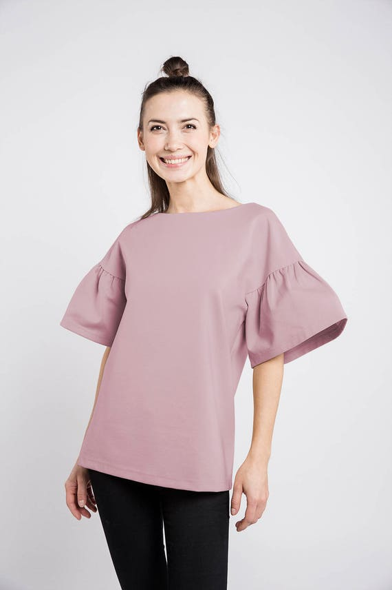 c66c6143adb Chic blouse Cute blouse Dusty rose blouse LeMuse chic