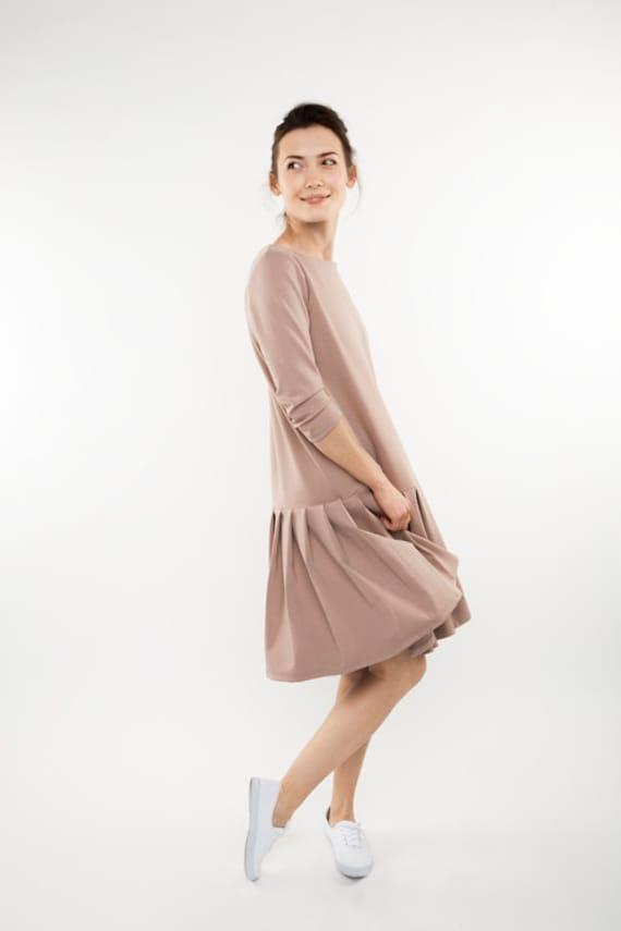 dress dress dress LeMuse pink Light unique Unique dress Flared qRBwzznE1