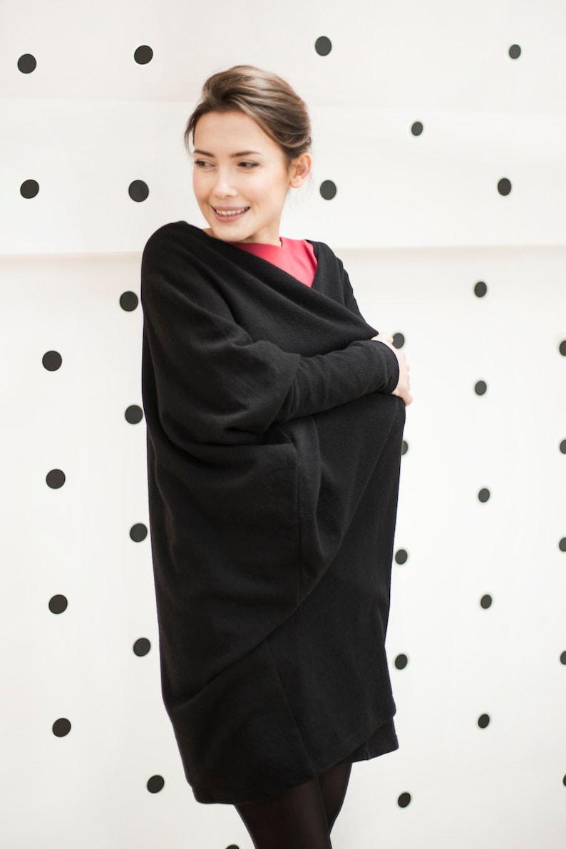 Warm Cardigan Black Loose Cardigan Wool Cardigan Wrap Cardigan Wool Clothing Oversize Cardigan Black Cardigan Minimalist Clothing