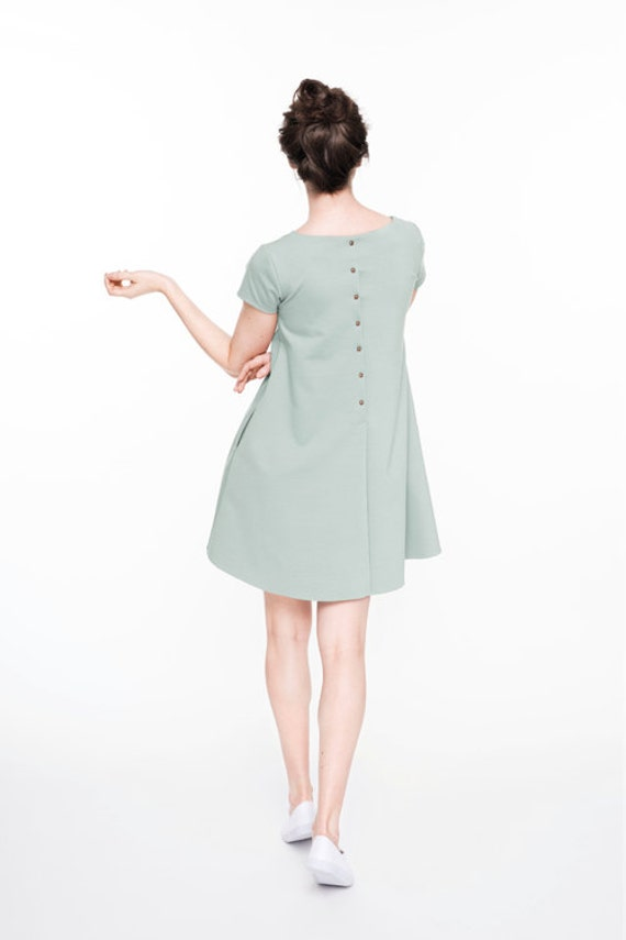 with CALMNESS mint buttons LeMuse dress SUMMER wqOPW1v