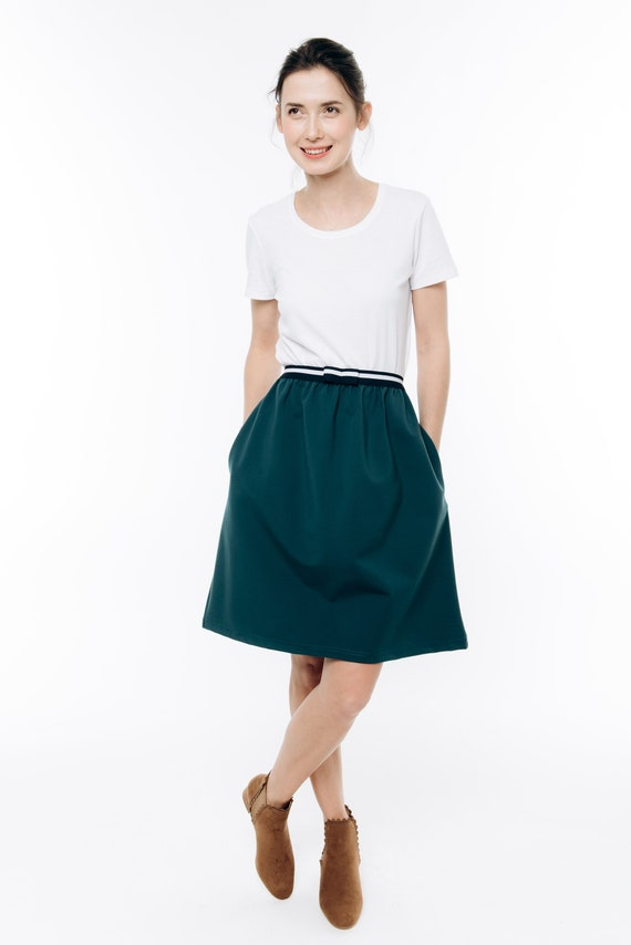 Casual green skirt skirt LeMuse Green skirt Designer skirt O6tUv