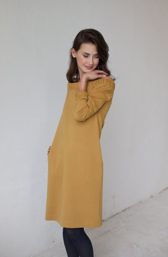 dress dress Perfect Mustard shoulder dress off LeMuse Off shoulder dress CawHHq