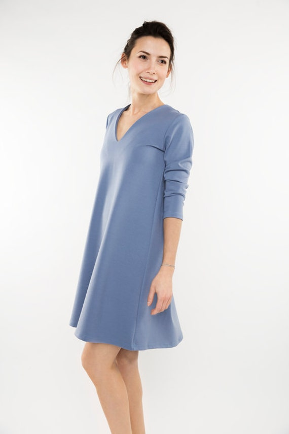 Pale dress dress Plain dress Formal blue formal LeMuse dress qU45OOx