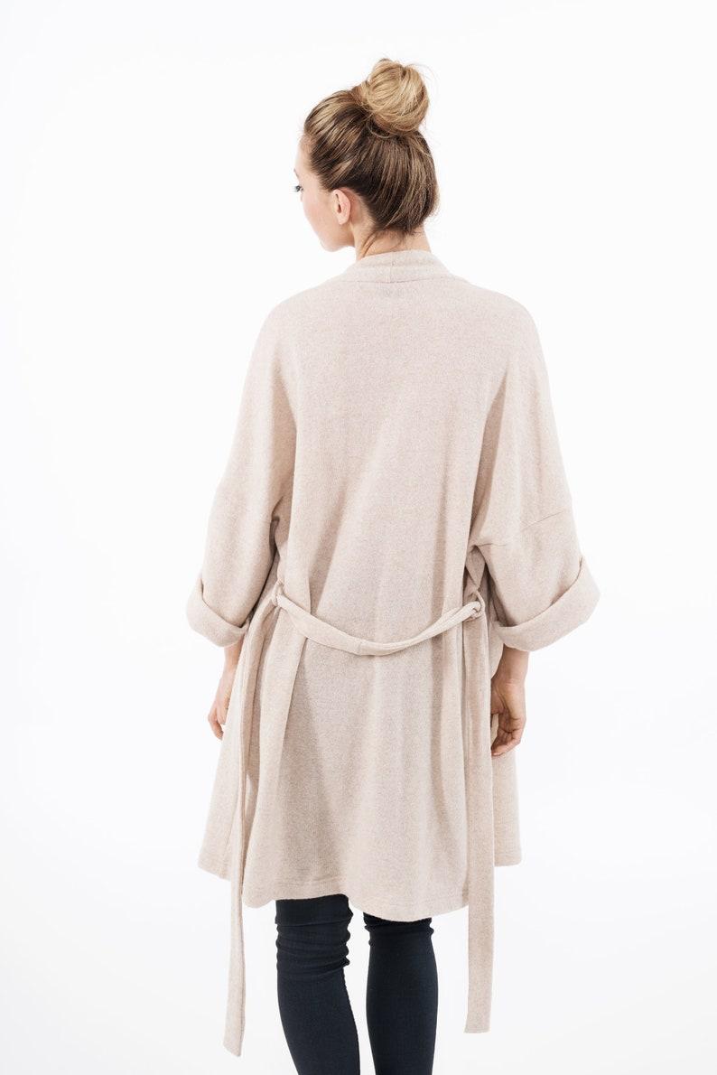 LeMuse creamy LONG wool cardigan