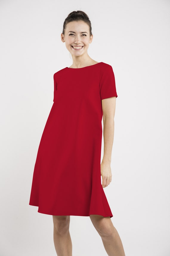 dress LeMuse buttons CALMNESS with SUMMER red BnxFnrOt