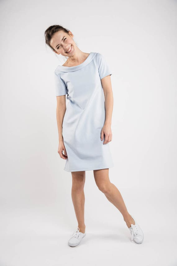 dress LeMuse dress blue Short Blue bridesmaid dress dress blue bridesmaid Sky party gx8a8POwq