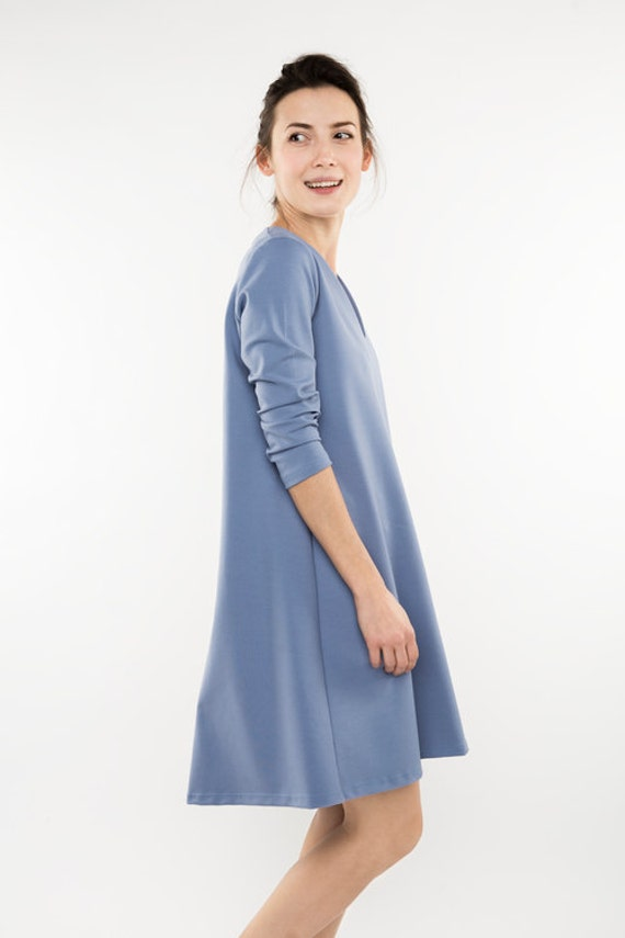 dress LeMuse Plain dress formal dress blue Pale dress Formal UYgw88q