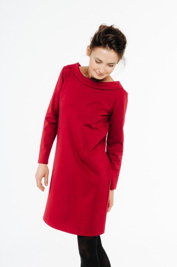 Red Dress Wedding Guest Dress Elegant