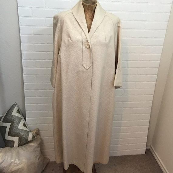 Vintage 1960s Evening Coat Lined 3/4 Sleeve Pocket