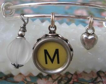 Typewriter Key Bracelet ~ JUNK Time ~ Vintage Salvaged Repurposed Keys ~ Junk Gypsies