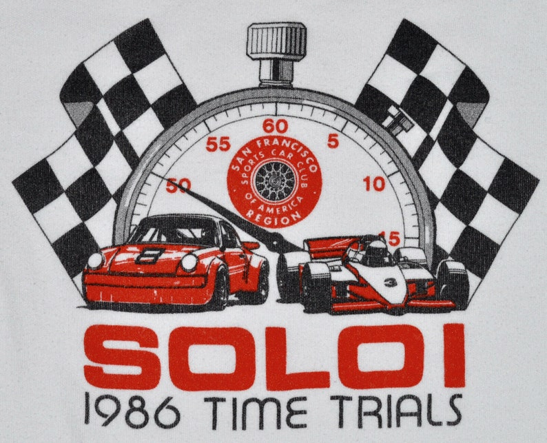 San Francisco Sports Cars >> Vintage 80s 1986 San Francisco Sports Car Club Of America Time Trials T Shirt Ladies Sz Small S Extremely Rare