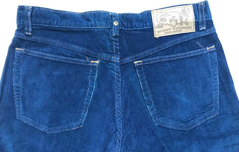 Men/'s Vintage SCOUT America Blue Corduroy Dad Pants ~ Size 33x34