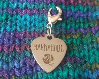 Yarnaholic - Progress Keeper/Zipper Pull Stitch Marker Charm