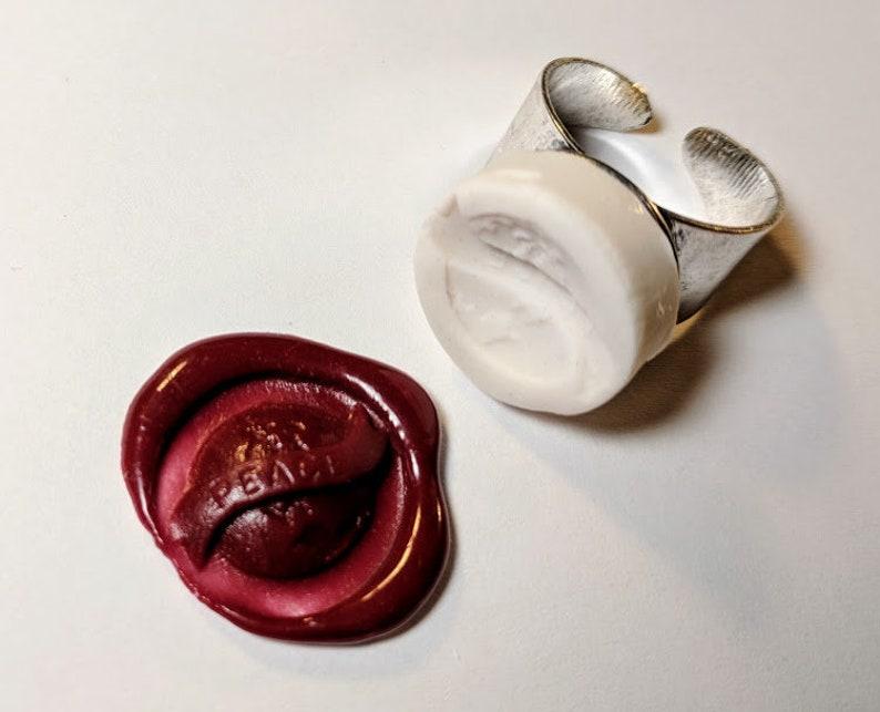 885f873fa14cc7 World Peace on Earth Wax Seal Signet Ring handmade using