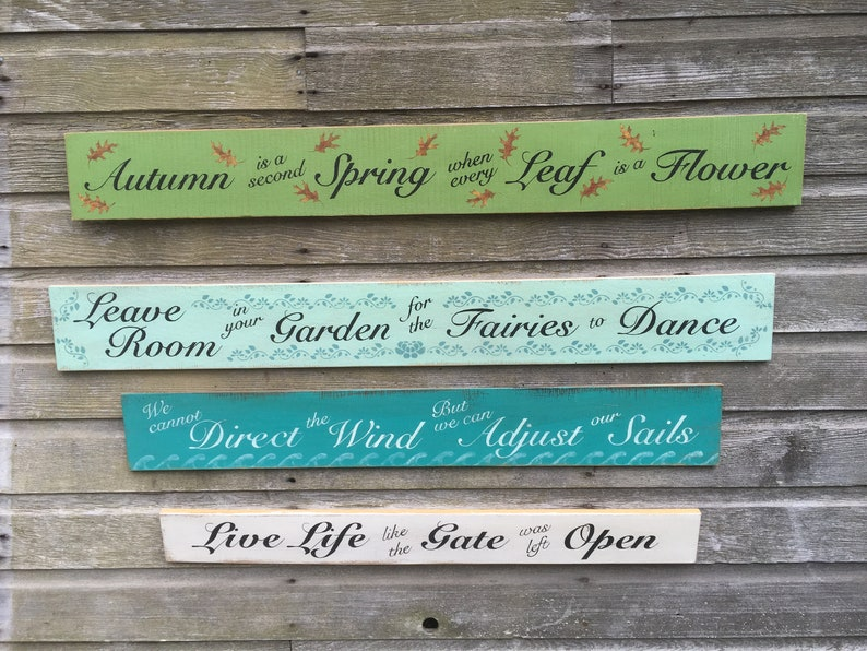 rustic wood Inspirational signs country waterproof hand painted