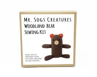 Woodland Bear Plush Toy Sewing DIY Kit